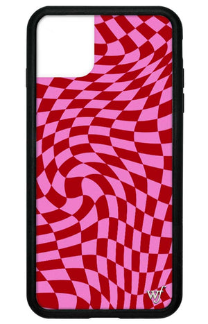 Pink Crazy Checkers iPhone 11 Pro Max Case