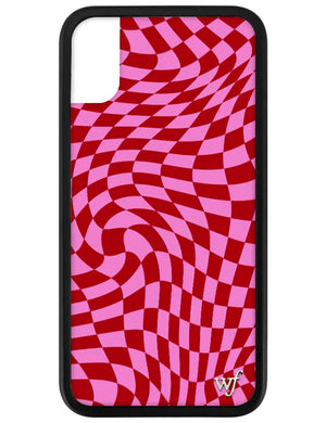 Pink Crazy Checkers iPhone X/Xs Case