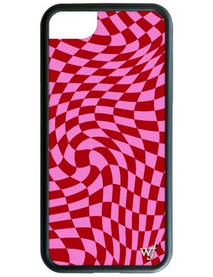 Pink Crazy Checkers iPhone SE/6/7/8 Case