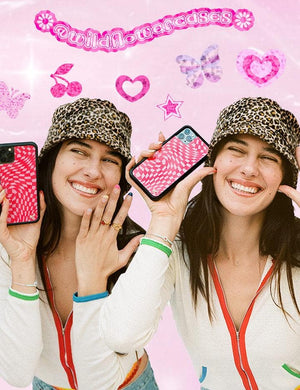 Crazy Checkers iPhone 12 mini Case | Pink