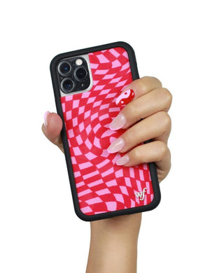 Crazy Checkers iPhone 11 Pro Max Case | Pink