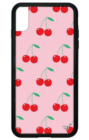 Cherries iPhone Xs Max Case | Pink