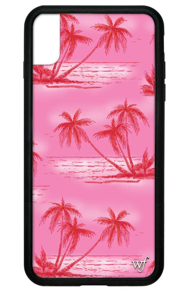 Pink Palms I Phone Xs Max Case by Wildflower Cases