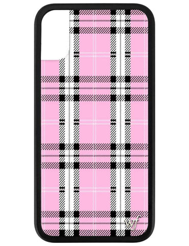 Pink Plaid iPhone X Case