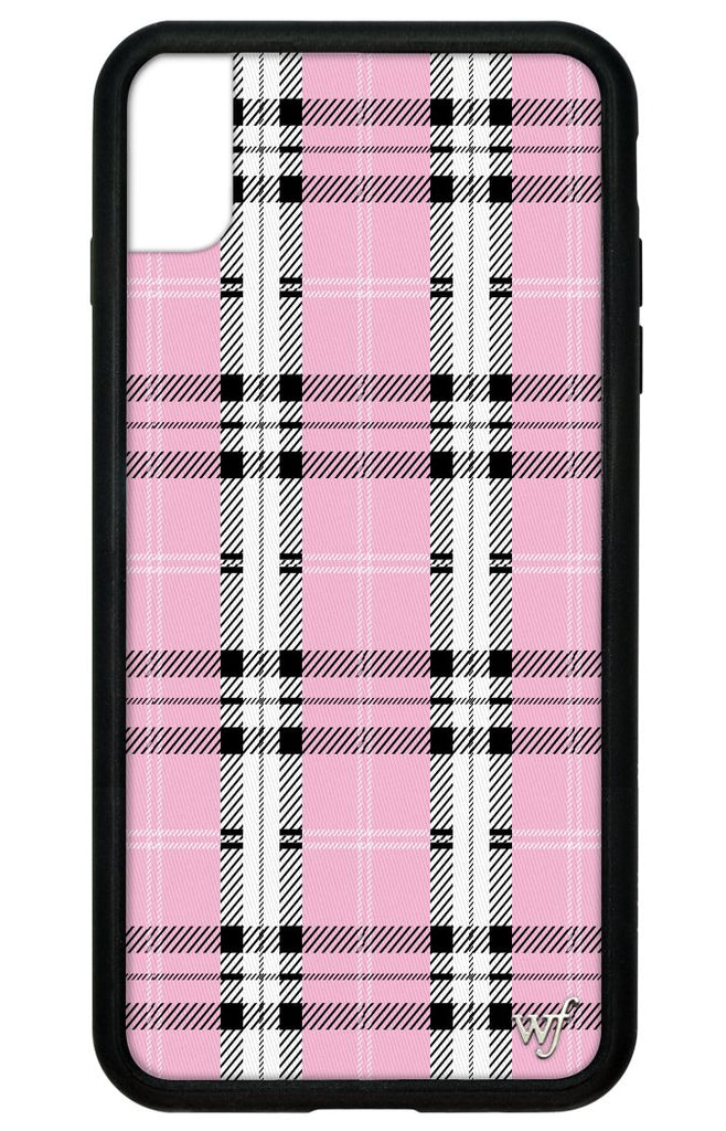 watch ab78a b4e86 Pink Plaid iPhone Xs Max Case
