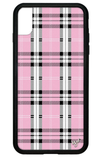 Pink Plaid iPhone Xs Max Case