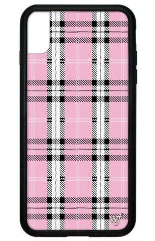 Plaid iPhone Xs Max Case | Pink