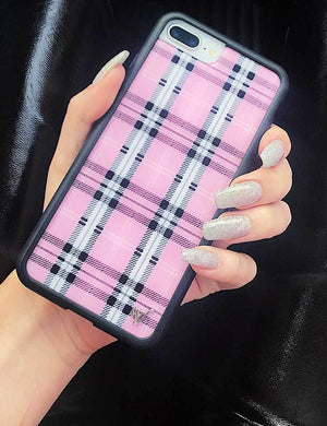 Plaid iPhone SE/6/7/8 Case | Pink