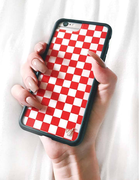 new style e3a46 92c60 Red Checkers iPhone 6/7/8 Case