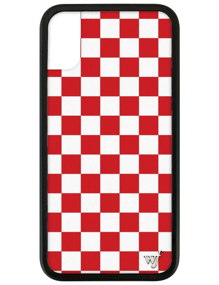 ca0b991bea6d Red Checkers iPhone X/Xs Case – Wildflower Cases