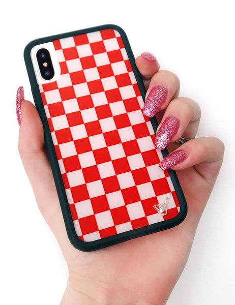 new product 263c4 2136a Red Checkers iPhone X/Xs Case