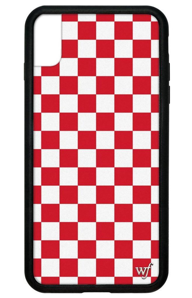low priced f24fa 32902 Red Checkers iPhone Xs Max Case