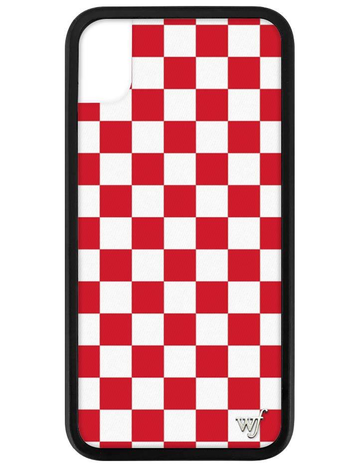 new style 92c25 7e8bb Red Checkers iPhone Xr Case