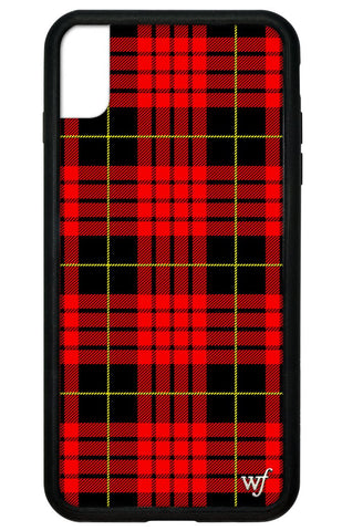 Red Plaid iPhone Xs Max Case