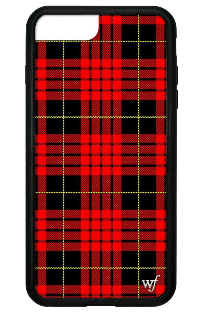 brand new e9a32 4dd53 Red Plaid iPhone 6+/7+/8+ Plus Case