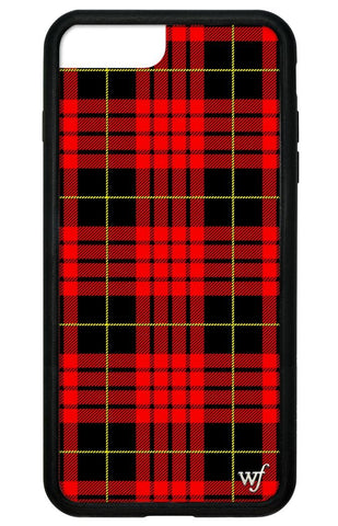 Red Plaid iPhone 6+/7+/8+ Plus Case
