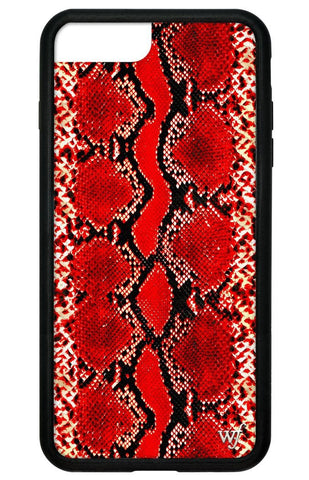 Red Snakeskin iPhone 6/7/8 Plus Case