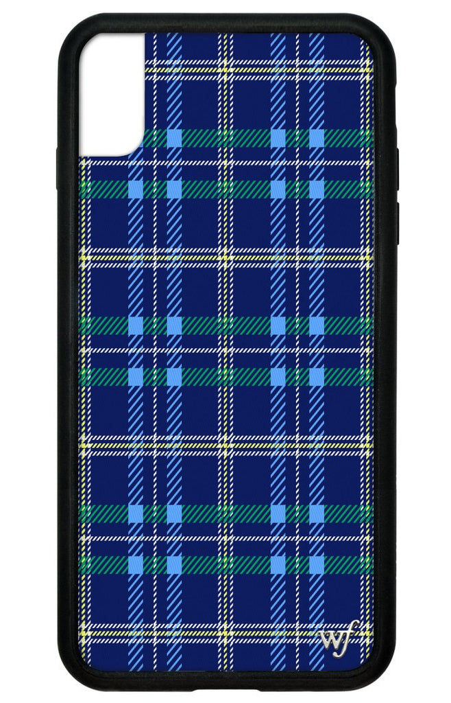 the best attitude f9e9c 0df0a Navy Plaid iPhone Xs Max Case