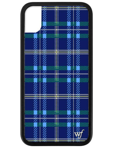 Navy Plaid iPhone Xr Case