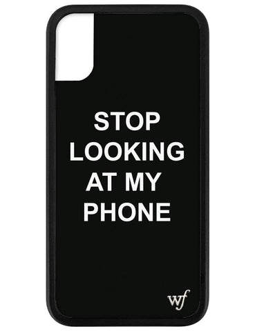 Stop looking at my phone iPhone X/Xs Case