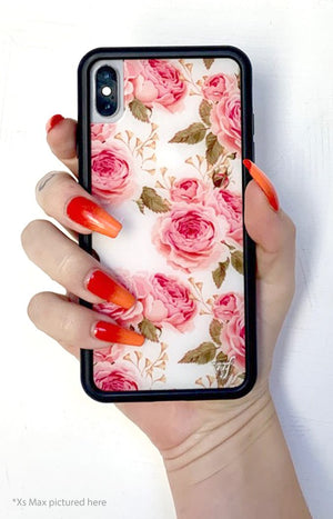 White Floral iPhone Xs Max Case
