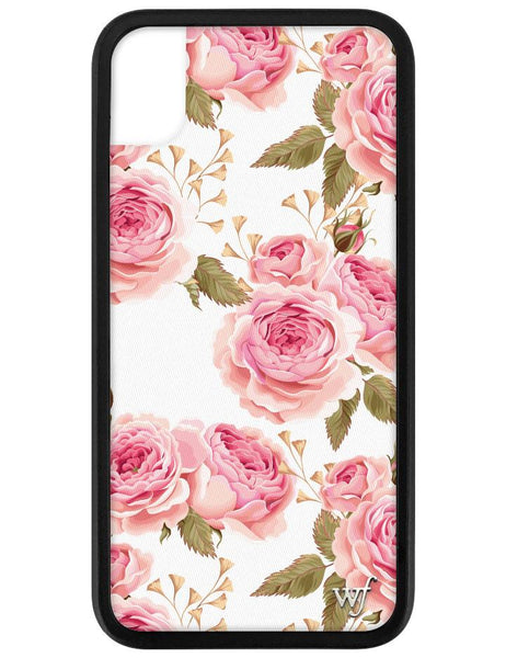 White Floral iPhone Xr Case