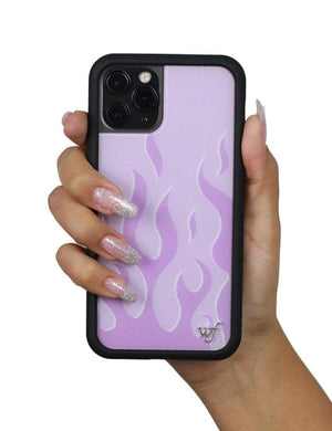 Flames iPhone 11 Pro Max Case | Lavender