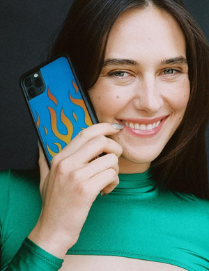 Flames iPhone 11 Pro Max Case | Blue