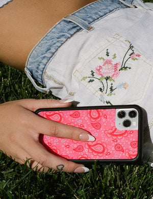 Strawberry Paisley iPhone 12 mini Case