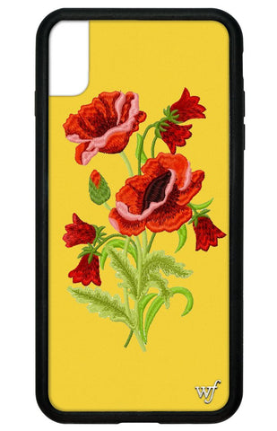 Yellow Floral iPhone Xs Max Case