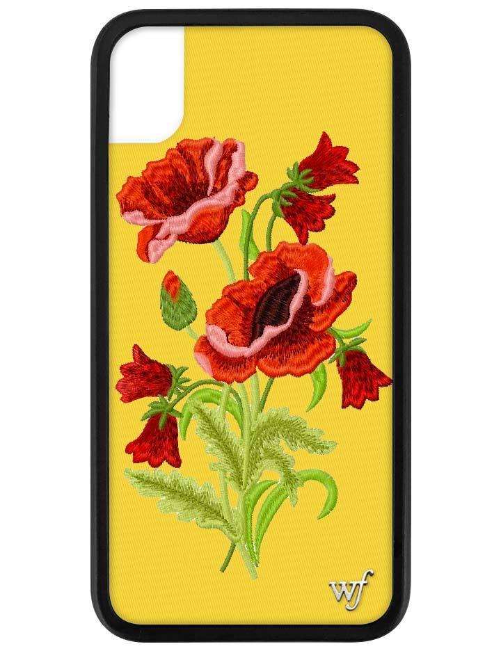 size 40 2677f e2fd1 Yellow Floral iPhone Xr Case