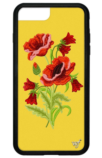 Yellow Floral iPhone 6+/7+/8+ Plus Case