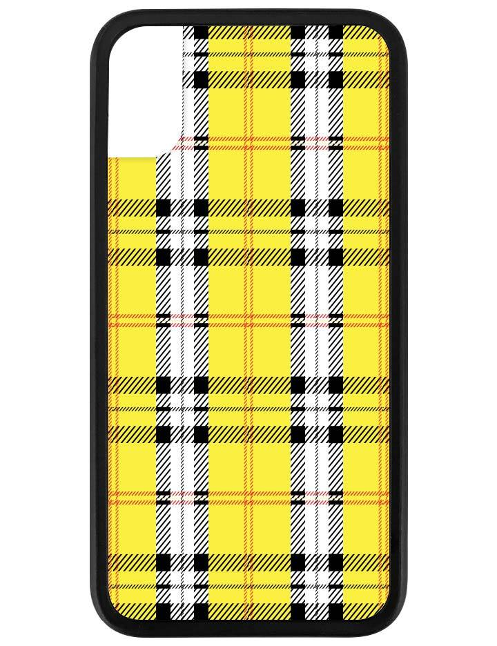 huge selection of 82ff5 11f59 Yellow Plaid iPhone X/Xs Case