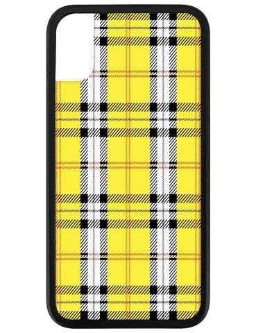 Wildflower Yellow Plaid iPhone X Case