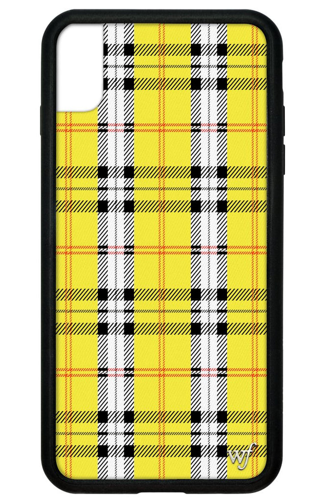 innovative design 8a202 01087 Yellow Plaid iPhone Xs Max Case