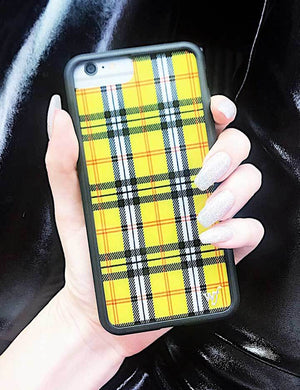 Plaid iPhone SE/6/7/8 Case | Yellow