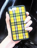 Yellow Plaid iPhone Xr Case