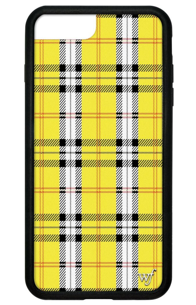 brand new b0ba6 8b7e8 Yellow Plaid iPhone 6+/7+/8+ Plus Case