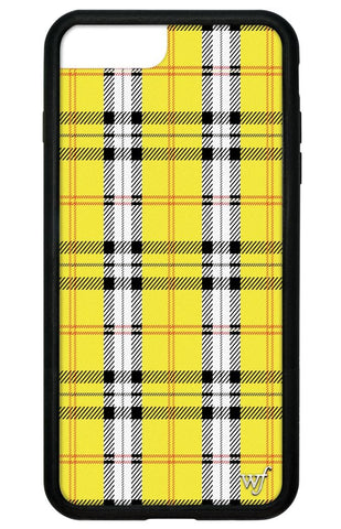 Wildflower Yellow Plaid iPhone 6+/7+/8+ Plus Case