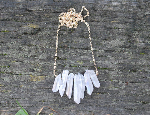 Crystal Necklace, Jewellery, Sun Moon Nation, Shannon Ross, Vancouver