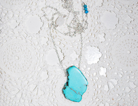Turquoise Moonstone Necklace, Sun Moon Nation, Shannon Ross, Vancouver