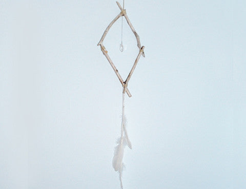 Crystal Moonstone Driftwood Dream Catcher, Sun Moon Nation, Shannon Ross, Vancouver