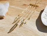 Feather Moonstone Necklace, Jewellery, Sun Moon Nation, Shannon Ross, Vancouver