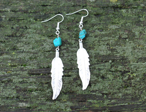 Crystal Turquoise Earrings, Jewellery, Sun Moon Nation, Shannon Ross, Vancouver