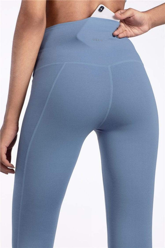 PNM Bottoms & 1 piece L / Blue QUALIFIER SPEEDPOCKET PERFORATED ANKLE CROP - Leggings