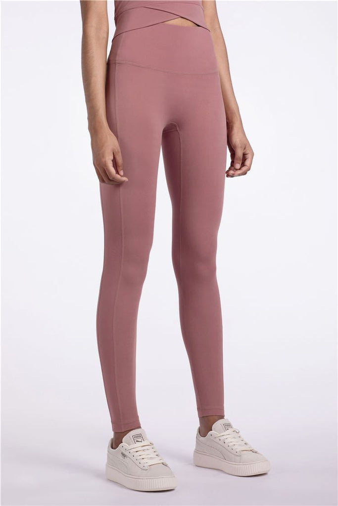 PNM Bottoms & 1 piece S / pink QUALIFIER SPEEDPOCKET PERFORATED ANKLE CROP - Leggings