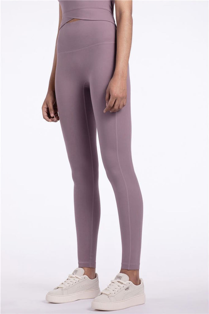 PNM Bottoms & 1 piece S / Purple QUALIFIER SPEEDPOCKET PERFORATED ANKLE CROP - Leggings