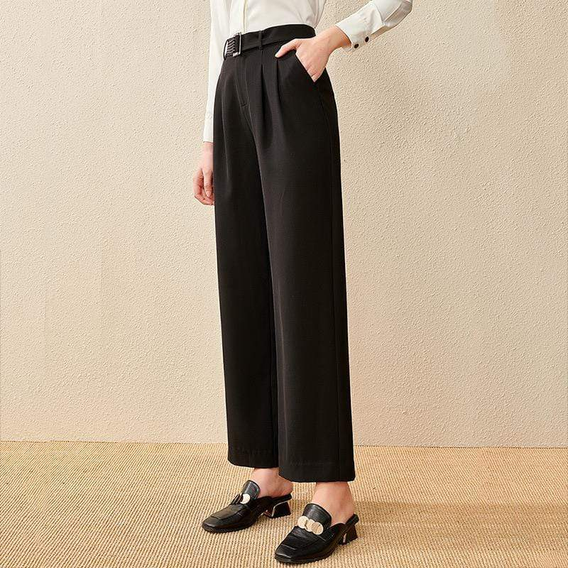 PNM ClOTHING bottoms Wide-Leg Pants With belt
