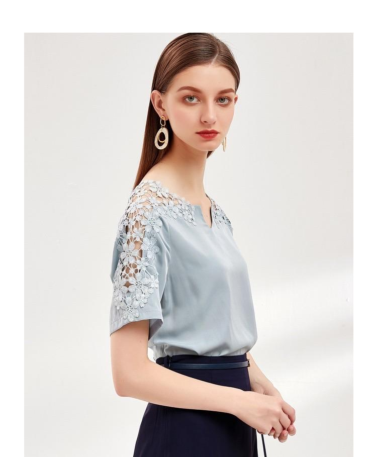 PNM ClOTHING Cutwork Embroidery Top