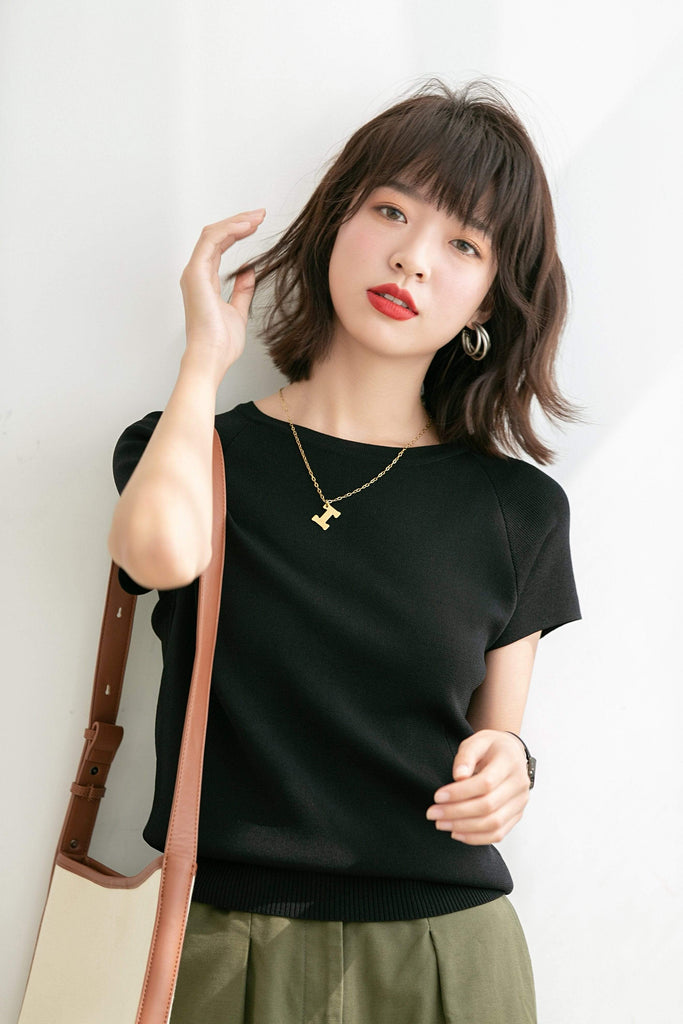 PNM ClOTHING TOP M / Black Classic Short sleeves Top
